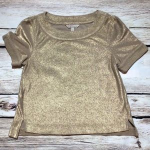Banana Republic Heritage Collection gold top XS